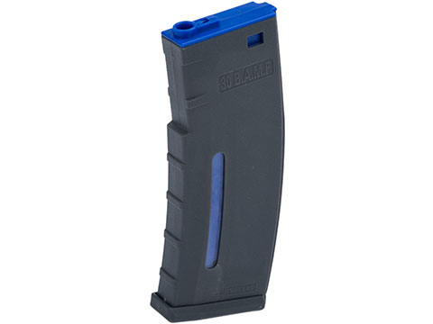 Evike.com BAMF 190rd Polymer Mid-Cap Magazine for M4 / M16 Series Airsoft AEG Rifles (Color: Gray w/ Blue / Single Magazine)