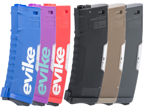 Evike.com BAMF GEN2 Polymer 190rd Mid-Cap Magazine for M4 / M16 Series Airsoft AEG Rifles (Model: Black / Single Mag)