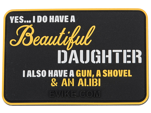 Evike.com Beautiful Daughter PVC Morale Patch