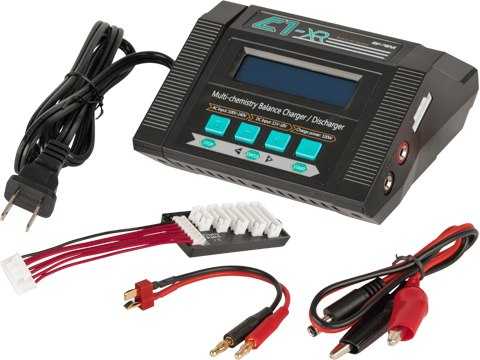 EV Peak C1-XR Multi Function Smart Charger for LiPo LiIon LiFe NiMh Nicd Batteries with LCD Readout
