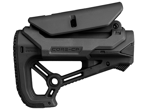 FAB Defense GL-CORE-S CP CQB Optimized Combat Stock with GCCP Cheek Rest (Color: Black)