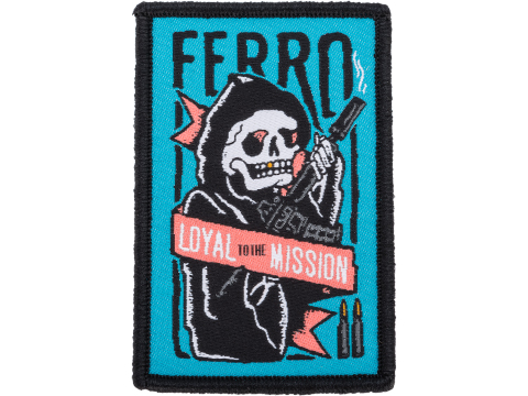 Ferro Concepts Loyal Reaper Embroidered Morale Patch (Color: Blue / Red)