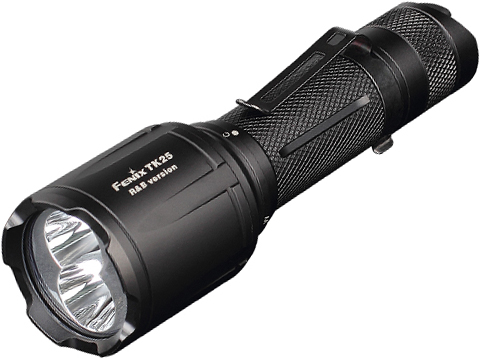 Fenix TK25 Tactical Flashlight with White, Red and Blue Lights