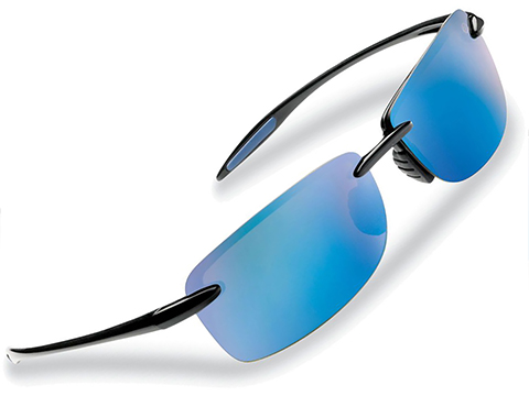 Flying Fisherman Cali Rimless Sunglasses (Color: Black Smoke w/ Blue Mirror Lens)