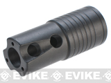 Angel Custom Steyr AUG H-BAR Type Steel Airsoft Flash Hider - 14mm Negative
