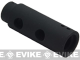 APS / Matrix Mini Y Comp Type Metal Flashhider for Airsoft AEG (Thread: 14mm Negative)