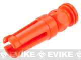 JG Blaze Orange Plastic AUG Style Airsoft Flash Hider - 14mm Negative