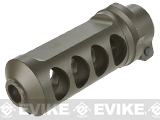 6mmProShop Full CNC Style Muzzle Brake for M107A1 Series Airsoft Sniper Rifles - Dark Earth