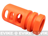 Matrix Shark Type Orange Flashhider for Airsoft AEG Rifles (14mm negative)