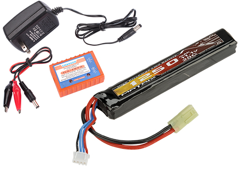 Matrix 11.1V 1250mah High Performance Stick Type Li-Poly Battery & Charger Set