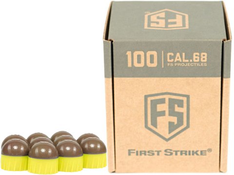 First Strike Paintball Rounds (Color: Smoke/Yellow / 100ct)