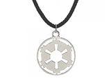 Star Wars Galactic Empire Cutout Insignia Necklace w/ Suede Cord