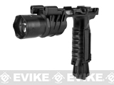 Avengers M900 Tactical Illuminator Vertical Grip w/ LED Grip Light for Airsoft - Black