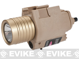 Matrix M6 Tactical Laser / Flashlight Combo w/ Remote Pressure Switch (Color: Dark Earth / Tan)