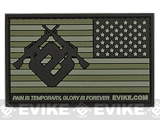 Evike.com US Flag PVC Hook and Loop Patch (Color: Green / Reversed)
