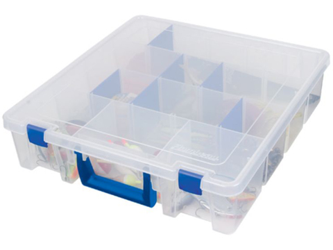 Flambeau Tuff Tainer� Fishing Tackle / Organizer Box (Model: 9007 / Double Deep Satchel Divided)
