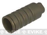 G&P Go Loud Flash Hider / Amplifier for Airsoft AEGs - Sand (Thread: 14mm Positive)