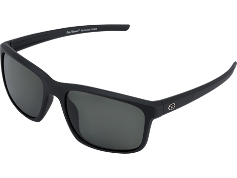 Flying Fisherman Rip Current Polarized Sunglasses (Color: Matte Black w/ Smoke Lens)