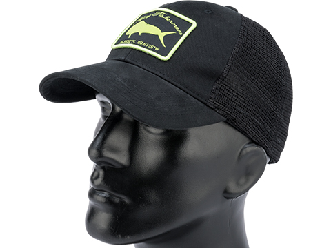 Flying Fisherman Mahi Trucker Hat w/ Embroidered Logo (Color: Black / Lime)