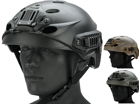 FMA Special Force Recon Tactical Helmet with ARC Rails and NVG Hood