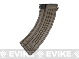 Matrix Flash Mag Hi-Cap Magazine for AK Series Airsoft AEG (Color: Tan / 500rd)