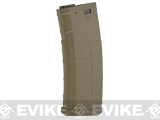 S&T 350rd Polymer Flash Magazine for M4 A&K Masada Series Airsoft AEG (Color: Tan)