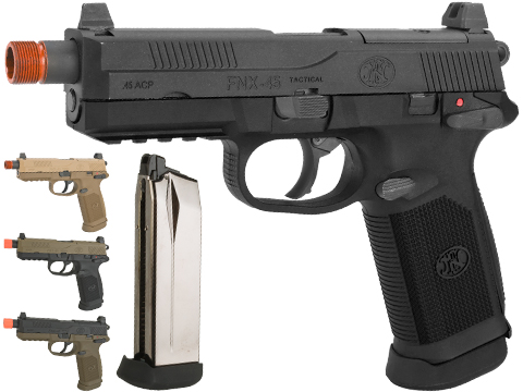 Cybergun FN Herstal Licensed FNX-45 Tactical Airsoft Gas Blowback Pistol by VFC (Color: Black / Gun Only)