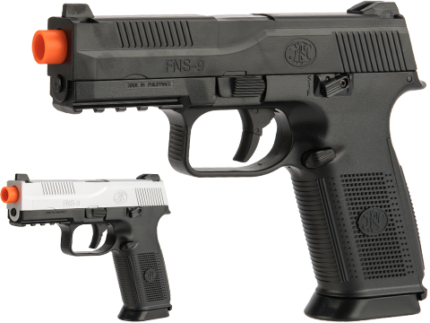 FN Herstal FNS-9 Airsoft Spring Pistol by CyberGun (Color: Black)