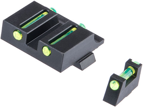 Pro-Arms Steel Fiber Optic Sight Set for Elite Force / UMAREX GLOCK 17 Gen5, 19 Gen4, 19X Gas Blowback Pistols