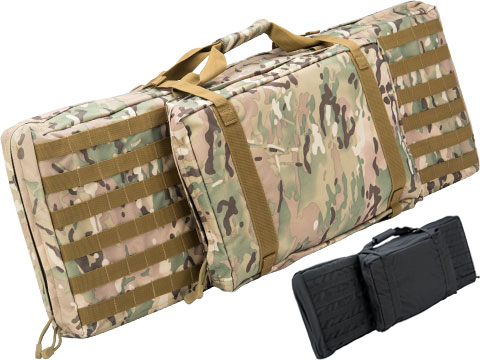 Matrix Tactical 38 Padded Double Duty Single Rifle Bag w/ Pistol Carrying Pouch (Color: Multicam)