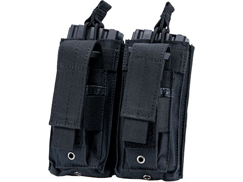 Matrix MOLLE Double Kangaroo 5.56mm Rifle & Pistol Magazine Pouch (Color: Black)