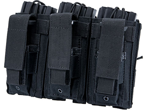 Matrix MOLLE Triple Kangaroo 5.56mm Rifle & Pistol Magazine Pouch (Color: Black)