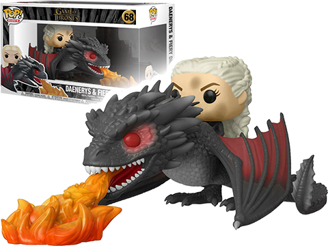 Funko POP! Rides - Game of Thrones Daenerys On Fiery Drogon Vinyl Figure