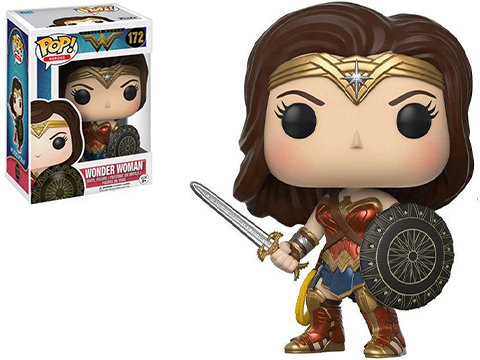 Funko POP! Movies DC Wonder Woman w/ Sword and Shield Vinyl Figure