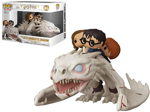 Funko POP! Rides - Harry Potter Ukrainian Ironbelly with Harry, Ron, and Hermione Vinyl Figure