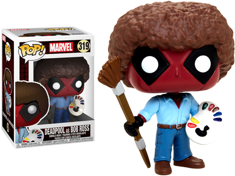 Funko POP! Deadpool as Bob Ross Vinyl Figure