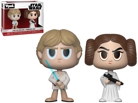 Funko VYNL Star Wars Princess Leia and Luke Skywalker Vinyl Figures