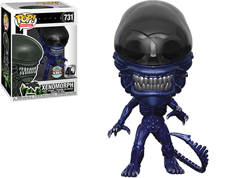 Funko Pop! Movies Specialty Series Alien 40th Anniversary Limited Edition Xenomorph (Version: Blue Metallic)
