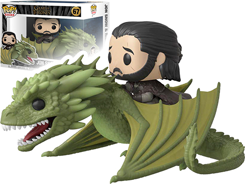 Funko POP! Rides - Game of Thrones Jon Snow with Rhaegal Vinyl Figure