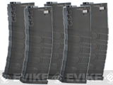 G&G Polymer 120rd Mid-Cap Magazine for M4 / M16 Series Airsoft AEG Rifles (Color: Black / Set of 5)