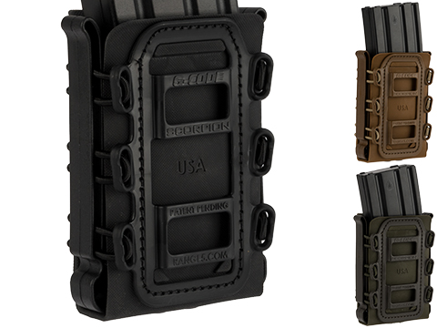 G-Code Soft Shell Scorpion Rifle Magazine Carrier with R1 Molle Clips