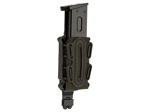G-Code Soft Shell Scorpion Short Pistol Magazine Carrier with P1 Molle Clip (Color: Green Frame / Green Shell)