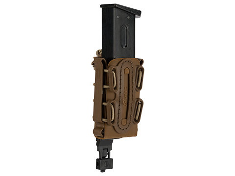 G-Code Soft Shell Scorpion Short Pistol Magazine Carrier with P1 Molle Clip (Color: Tan Frame / Tan Shell)