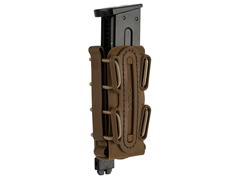 G-Code Soft Shell Scorpion Tall Pistol Magazine Carrier with P1 Molle Clip (Color: Tan Frame / Tan Shell)