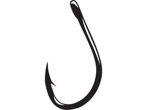 Gamakatsu Live Bait Hook Needle Point with Ringed Eye (Size: 2/0 / 5 Pack)