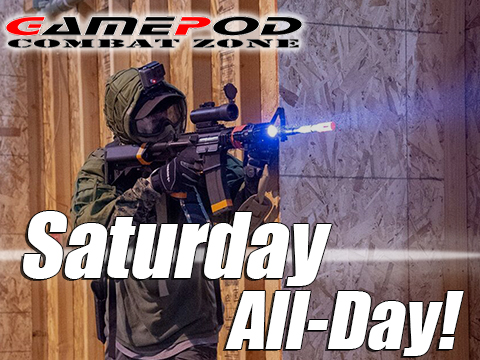 Gamepod Combat Zone Field Admission Pass (Ticket: Saturday All-Day)