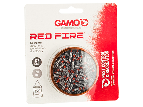 GAMO Red Fire Polymer Tipped Non-Lead .177 cal. High Performance Hunting Pellets (Qty: 150rd Blister Pack)