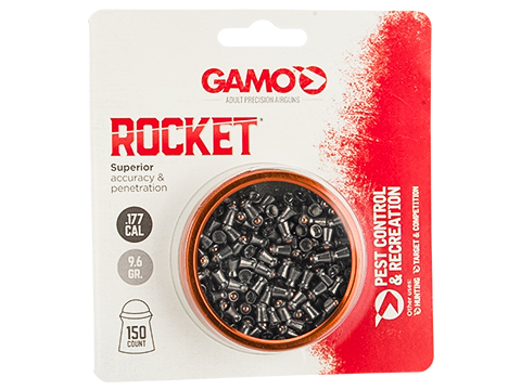 Gamo .177 Caliber Rocket Airgun Hunting Pellet - Package of 150