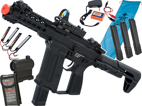 KWA Ronin Tekken Pistol Caliber AR Airsoft AEG Rifle (Model: TK.45C AEG 2.5 / Go Airsoft Package)