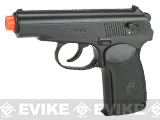 Gun Heaven CO2 Powered Russian PM Non-Blowback Airsoft Pistol - Black